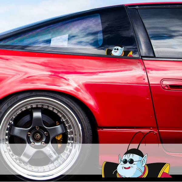 Peeking King Kai North Goku Son Saiyan Dragon Z Super DBZ Funny JDM Racing Low Stance Anime Manga Car Vinyl Sticker Decal>