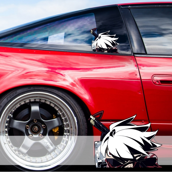 Peeking Disgaea 4 The Ninja Sexy Hot Girl Funny JDM Racing Low Stance Anime Manga Car Vinyl Sticker Decal