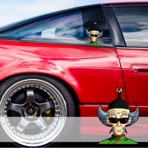 Peeking Master Shen Crane Hermit Dragon Ball Kai Z Super Anime Manga Funny JDM Racing Low Stance Anime Manga Car Vinyl Sticker Decal