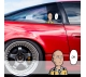 Peeking One Punch Man v2 One-Punch Onepunch Onepunchman Anime Manga Funny JDM Racing Low Stance Anime Manga Car Vinyl Sticker Decal>