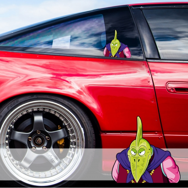 Peeking Piano King Piccolo Namekian Dragon Ball Z Super DBZ Funny JDM Racing Low Stance Anime Manga Car Vinyl Sticker Decal
