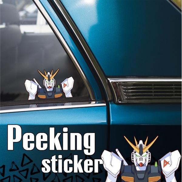 Peeking Mobile Suit v2 RX-78-2 ガンダム Earth Federation Gundam Heero Yuy Zeon Anime Manga Car Vinyl Sticker Decal>