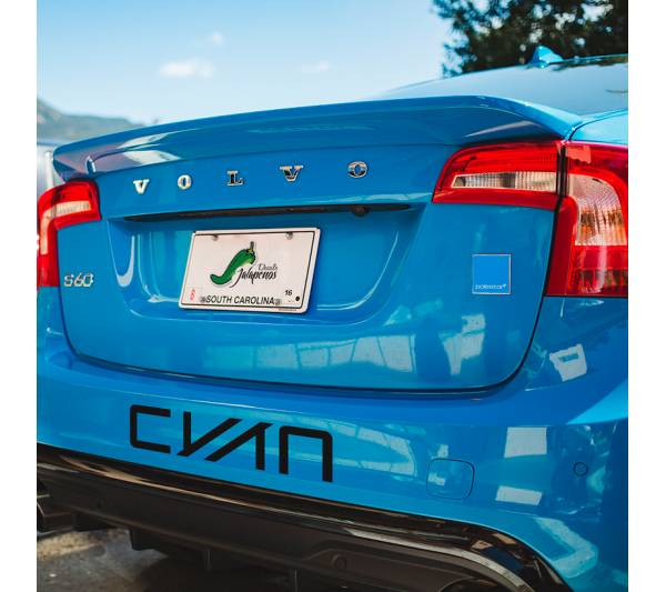 2x Polestar CYAN Racing Banner Performance Volvo S60 V60 XC60 Sport Drift Car Windshield Body Vinyl Sticker Decal