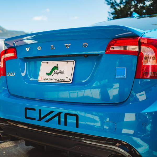 2x Polestar CYAN Racing Banner Performance  S60 V60 XC60 Sport Drift Car Windshield Body Vinyl Sticker Decal#Volvo