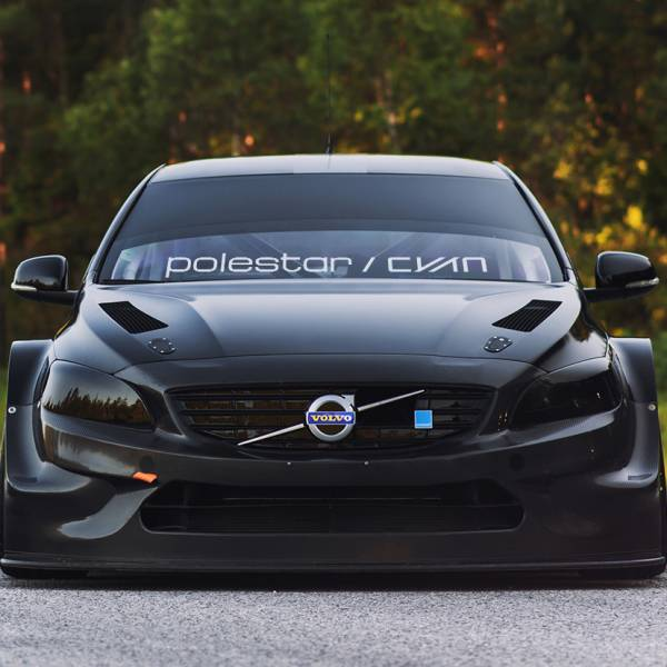 Polestar CYAN Racing v2 Windshield Stripe Banner Performance Volvo S60 V60 XC60 Sport Vinyl Sticker Decal