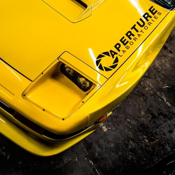 2x Pair Aperture Science Laboratories v1 Johnson Caroline GLaDOS Geek Car Vinyl Sticker Decal>