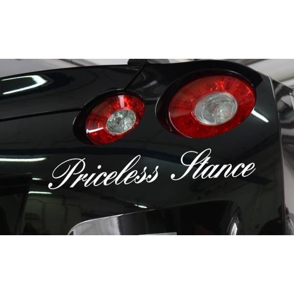 Priceless Stance JDM Royal VIP Japan Rising Sun Windshield Vinyl Sticker Decal