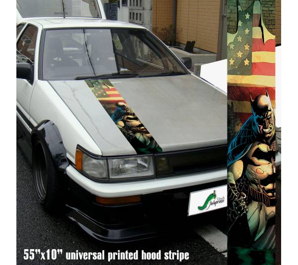 "55"" Hood Printed Batman Dark Knight USA Flag DC Arkham Gotham Car Vinyl Sticker Decal"