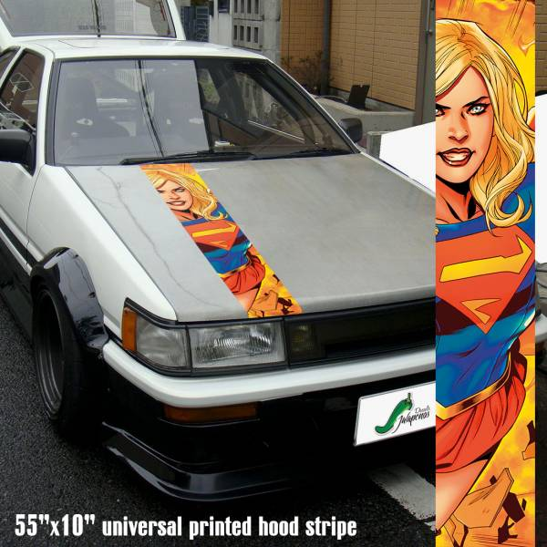 "55"" Hood Printed Stripe Kara Zor-El Danvers Kryptonian v4 Clark Kent Comic Car Vinyl Sticker Decal>"