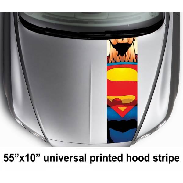 "55"" Hood Printed Stripe Clark Kent  Clark Kent  Car Vinyl Sticker Decal#Superman"
