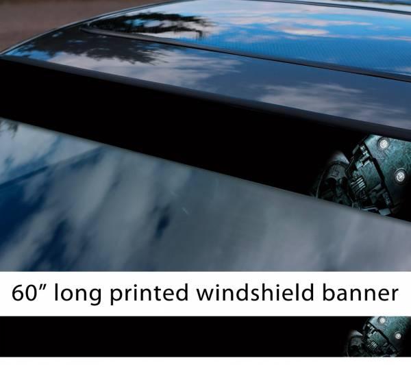 "60"" K-2SO Droid Captain Cassian Andor Galactic Empire Star Wars Rebel Alliance Sun Strip Printed Car Vinyl Sticker Decal"