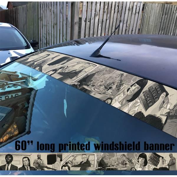 "60"" Pulp Fiction Movie V1 Sun Strip Printed Windshield Car Vinyl Sticker Decal"