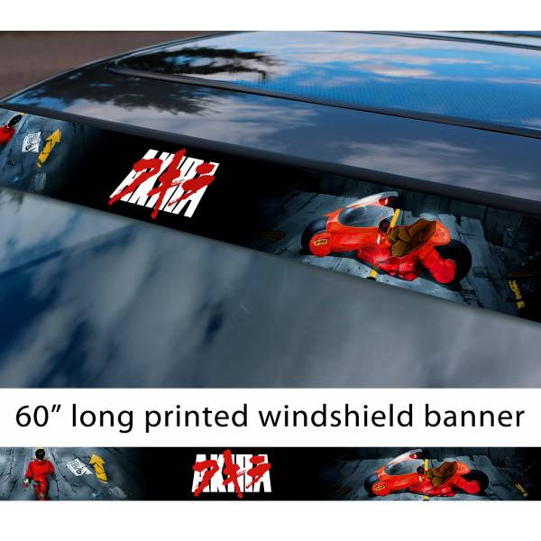 "60"" Akira アキラ Capsules v1 Tetsuo Shima Shotaro Kaneda Moto Bike Anime Manga Japan Sun Strip Printed Car Vinyl Sticker Decal>"