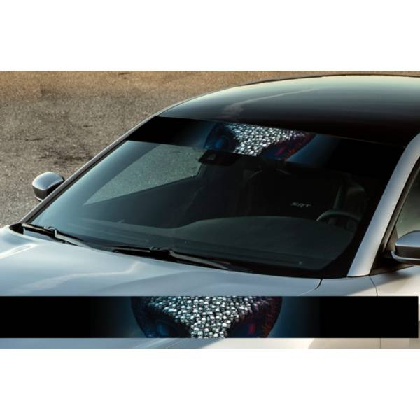 "60"" Skulls UFO Monster Printed Windshield Banner Wrap Vinyl Sticker Car Truck>"