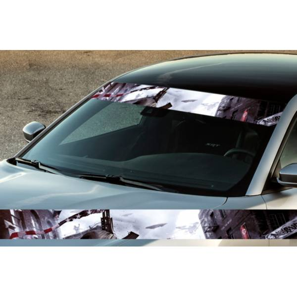 "60"" USA Flag Fight Star Gun Printed Windshield Banner Wrap Vinyl Sticker Car Truck>"