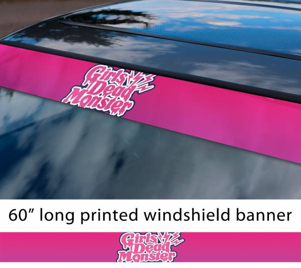 "60"" Girls Dead Monster v4 Angel Beats Yuri Hisako Miyuki Shiori SSS Sun Strip Printed Windshield Car Vinyl Sticker Decal"