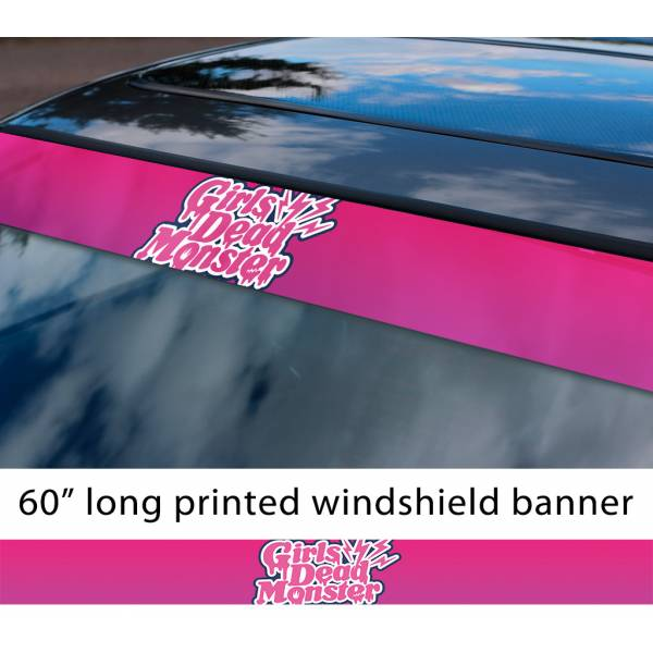 "60"" Girls Dead Monster v4 Angel Beats Yuri Hisako Miyuki Shiori SSS Sun Strip Printed Windshield Car Vinyl Sticker Decal>"