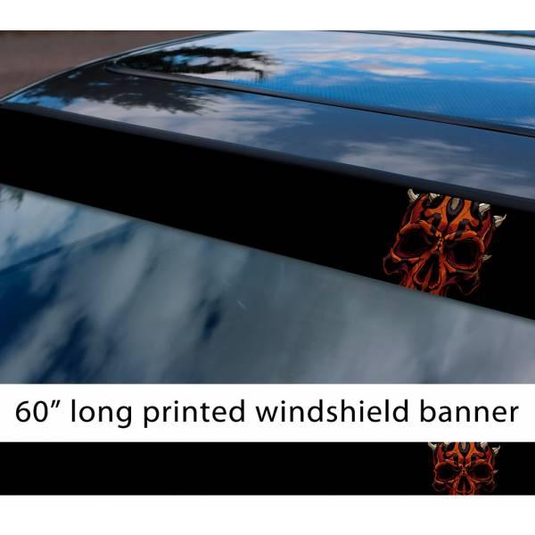 "60"" Darth Maul Skull Vader Galactic Empire Sith Order Star Wars First Order Sun Strip Printed Car Vinyl Sticker Decal"
