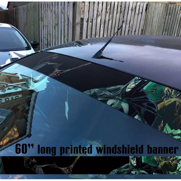 "60"" Batman Comics Bats Dark Gotham DC Why Seriuos Sun Strip Printed Windshield Car Vinyl Sticker Decal"