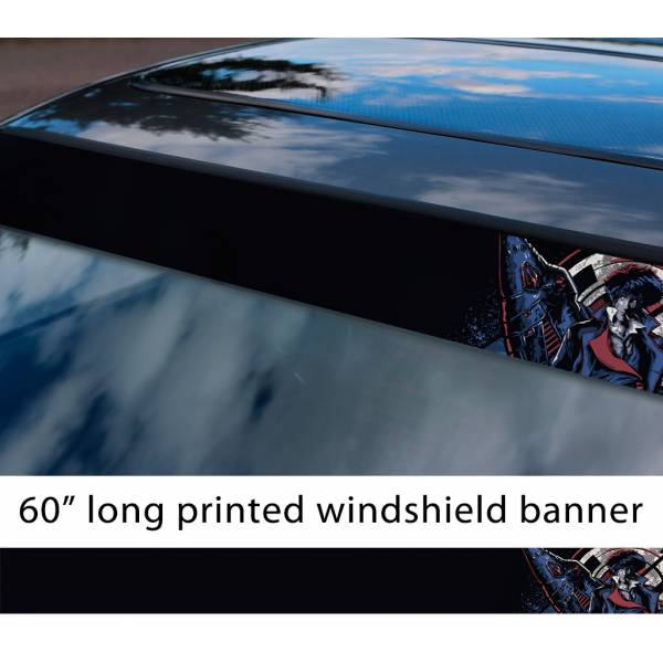 "60"" Cowboy Bebop v4 Bounty Hunter Spike Spiegel Jet Faye Ed Ein Anime Manga Sun Strip Printed Windshield Vinyl Sticker>"