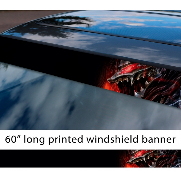 "60"" Berserk v2 Guts Armor Knight Griffith Crimson Behelit God Hand Logo Sacrifice Dark Anime Manga Strip Printed Windshield Car Vinyl Sticker Decal"