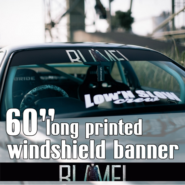 "60"" Blame! v5 Killy Cibo Sanakan Domochevsky City Netsphere Silicon Creatures Cyborg Blame Anime Manga Sun Strip Printed Windshield Car Vinyl Sticker Decal>"