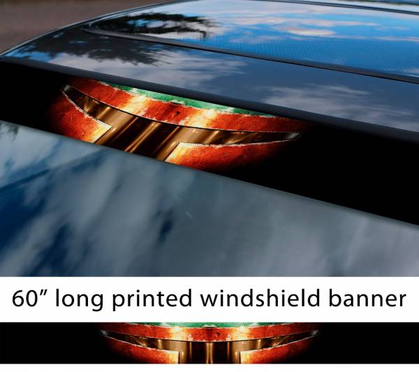 "60"" Boba Fett Star Wars v4 Clone Stormtrooper Mandalorian Dark Force Sun Strip Printed Windshield Car Vinyl Sticker Decal"