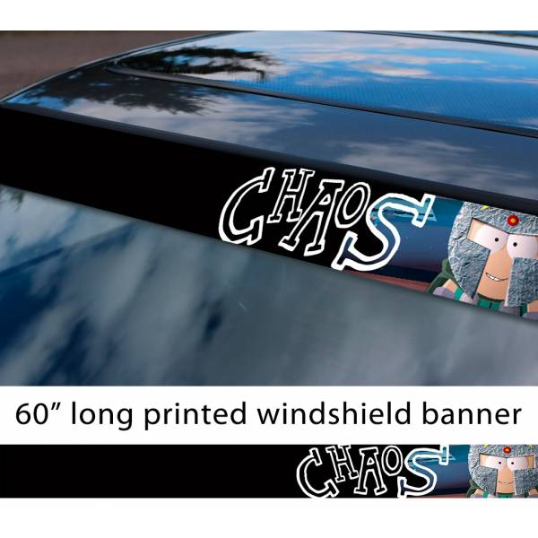 """60"""" South Park Professor Chaos Butters Coon Hero Fractured But Whole TV Show Sun Strip Printed Windshield Car Vinyl Sticker Decal"""