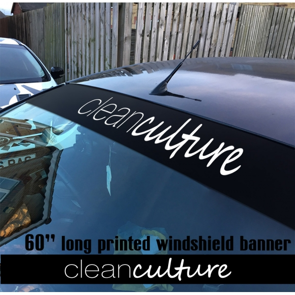 "60"" Clean Culture Simply JDM Stance Low Tuning Slammed Printed Windshield Car Vinyl Sticker Decal"