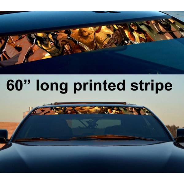 "60"" Comics v2 X-Men Strip Printed Windshield Graphics Car Truck Vinyl Sticker Decal"
