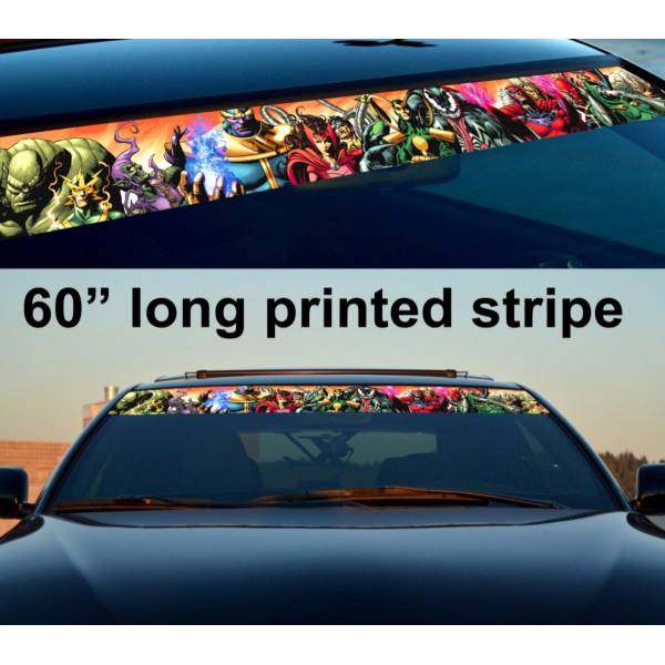 "60"" Comics v5  Evil Sun Strip Printed Windshield Graphics Car Vinyl Sticker Decal>"