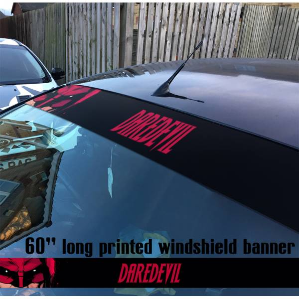"60"" Daredevil Marvel Murdock Sun Strip Printed Windshield Car Vinyl Sticker Decal"