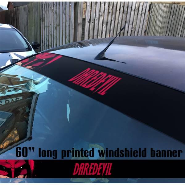 "60"" Daredevil Marvel Murdock Sun Strip Printed Windshield Car Vinyl Sticker Decal"
