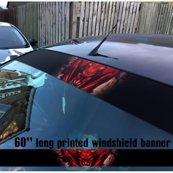 "60"" Daredevil Marvel Comics Superhero Sun Strip Printed Windshield Car Vinyl Sticker Decal"