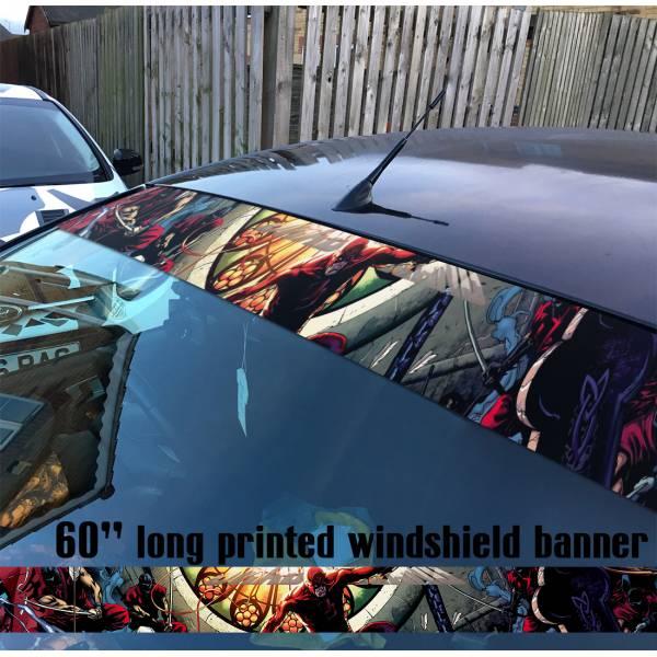 "60"" Daredevil Marvel Comics Defenders Sun Strip Printed Windshield Car Vinyl Sticker Decal"