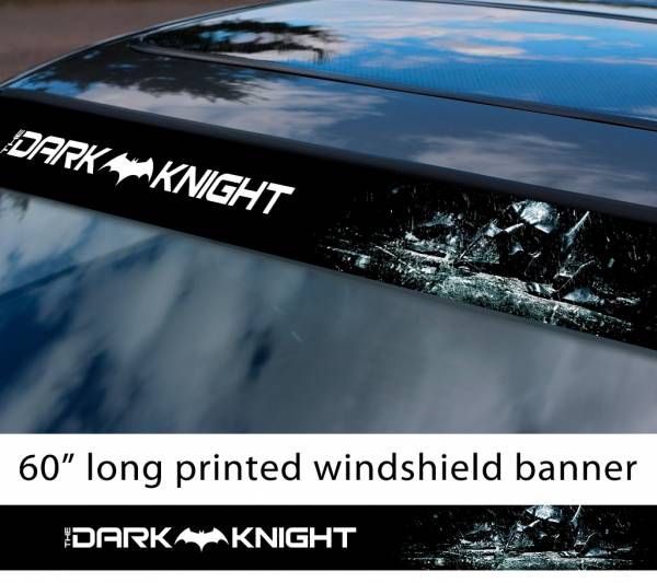 "60"" Batman Dark Knight Rises Gotham Joker DC Why Seriuos Sun Strip Printed Windshield Car Vinyl Sticker Decal"