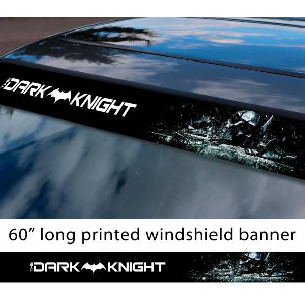 "60"" Batman Dark Knight Rises Gotham Joker DC Why Seriuos Sun Strip Printed Windshield Car Vinyl Sticker Decal"
