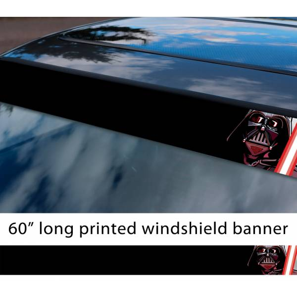"60"" Darth Vader Lightsaber Galactic Empire Sith Order Star Wars Sun Strip Printed Car Vinyl Sticker Decal"