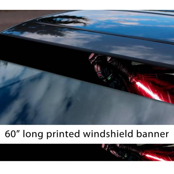 "60"" Darth Vader v2 Lightsaber Galactic Empire Sith Order Star Wars Sun Strip Printed Car Vinyl Sticker Decal"