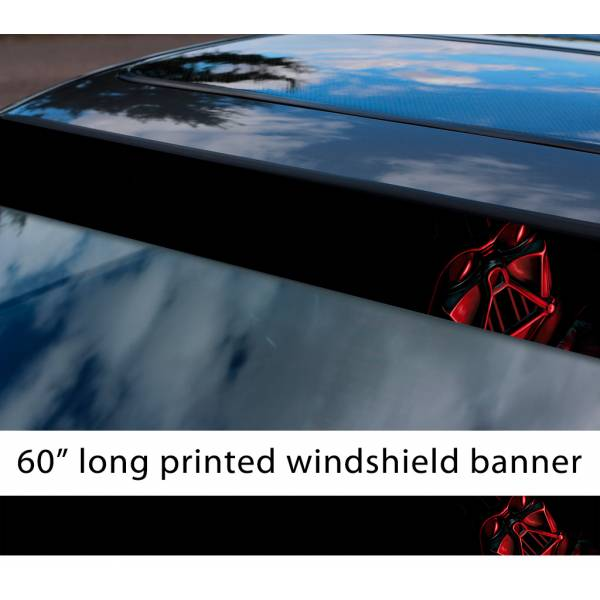 "60"" Darth Vader Shadow Dark Side Galactic Empire Sith Order Star Wars Sun Strip Printed Car Vinyl Sticker Decal"