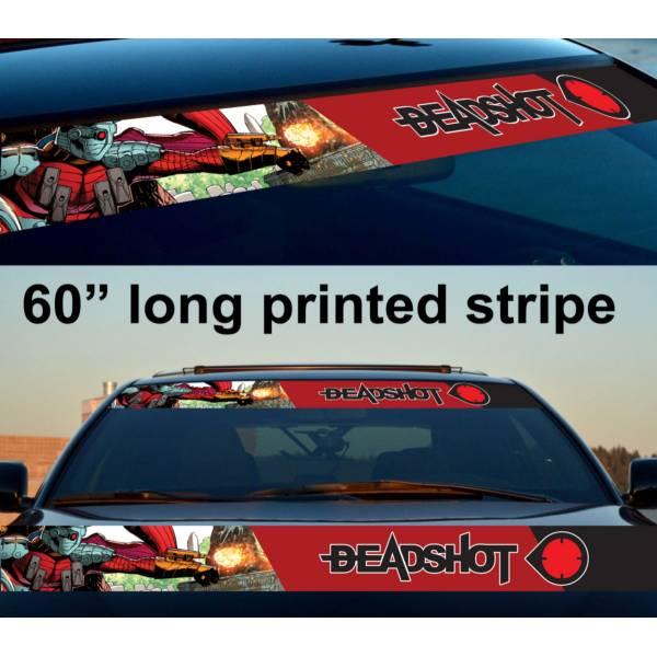 "60"" Deadshot Suicide Squad Bad Superhero Printed Windshield Banner Vinyl Sticker Car Truck"