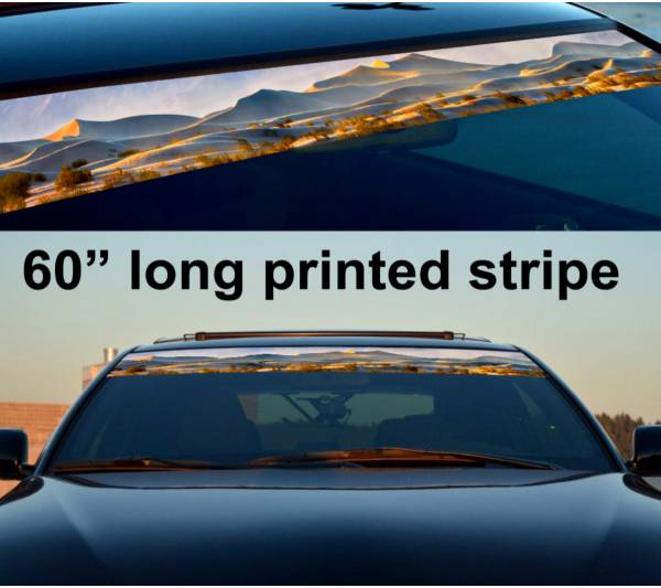 "60"" Desert Sahara 4x4 Sun Strip Printed Windshield Graphics Vinyl Sticker Decal"