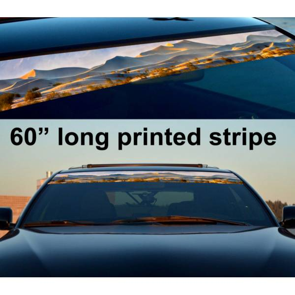 "60"" Desert Sahara 4x4 Sun Strip Printed Windshield Graphics Vinyl Sticker Decal>"