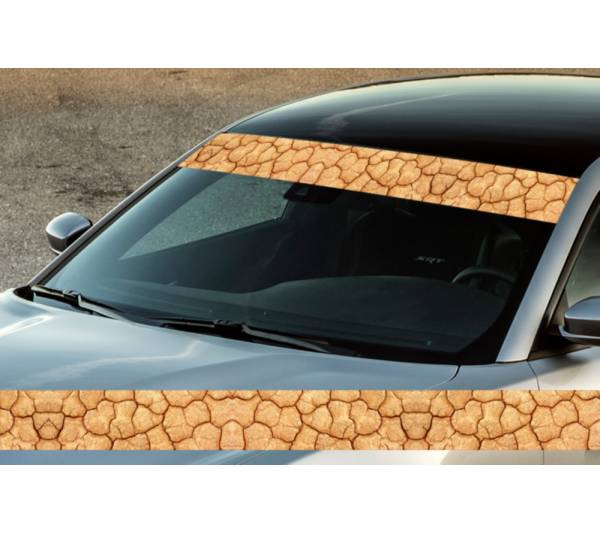 "60"" Desert Pattern Camo Off-Road Printed Windshield Banner Wrap Vinyl Sticker Truck"