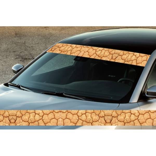 "60"" Desert Pattern Camo Off-Road Printed Windshield Banner Wrap Vinyl Sticker Truck>"