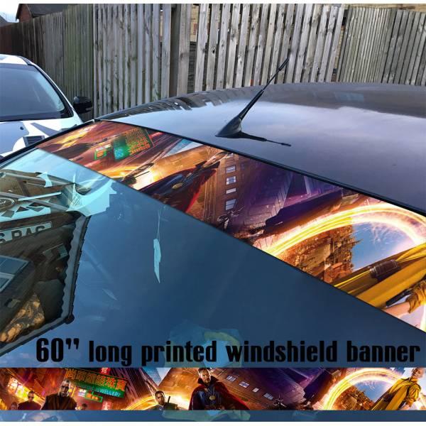 "60"" Doctor Strange Order Ancient One Marvel Sun Strip Printed Windshield Car Vinyl Sticker Decal"