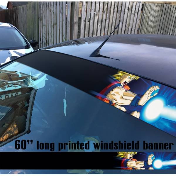 "60"" Dragon Ball v1 ドラゴンボール Z GT Super Manga Anime Goku Sun Strip Printed Windshield Car Vinyl Sticker Decal"