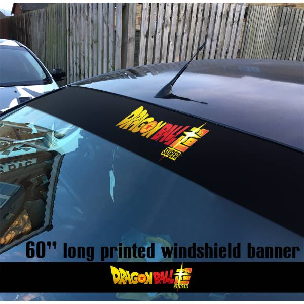 "60"" Dragon Ball Super v3 ドラゴンボール Manga Anime Goku Sun Strip Printed Windshield Car Vinyl Sticker Decal"