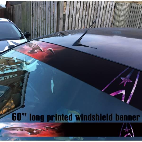 "60"" Star Trek v3 USS Enterprise Ship NCC 1701 A Sun Strip Printed Windshield Car Vinyl Sticker Decal"