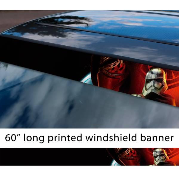 """60"""" First Order Emapre Kylo Ren Stormtrooper Sun Strip Printed Car Vinyl Sticker Decal>"""